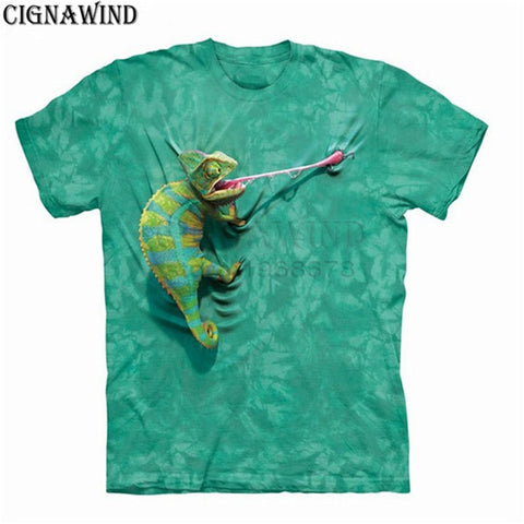 New chameleon t shirts Men/Women 3D Print t-shirt Short Sleeve