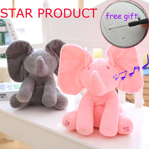 Musical Peek-A-Boo Elephant Stuffed Toy