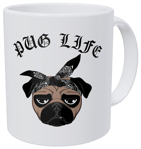 Pug Life Coffee Mug with Stirring Spoon