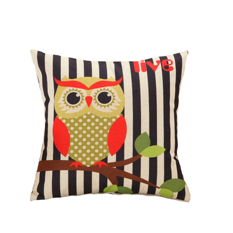 Lovely Owls Cushion Cover for Throw Pillow