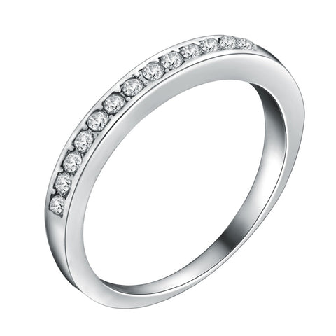 Silver Plated Wedding Style Ring