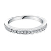 Image of Silver Plated Wedding Style Ring