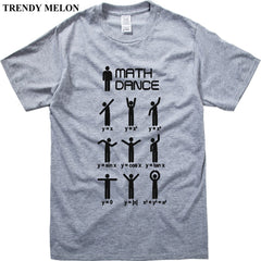 Cotton Tshirt Men Brand Dancing Math Short Sleeve T-shirt Funny Tee