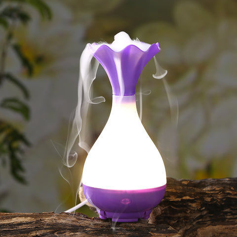 USB Aromatherapy Essential Oil Air Humidifier with LED Light
