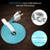 Image of Flat USB Cable Fast Charger and Data Sync for iPhone and iPad