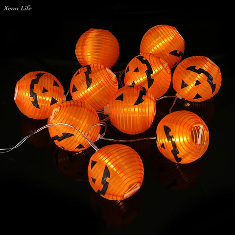 1 Set Pumpkin 10 LED String Lights Halloween Decoration Lights Warm White Halloween Home Decoration Accessories