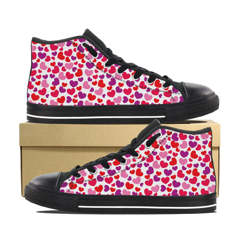 Women's Heart Design High Top Shoes