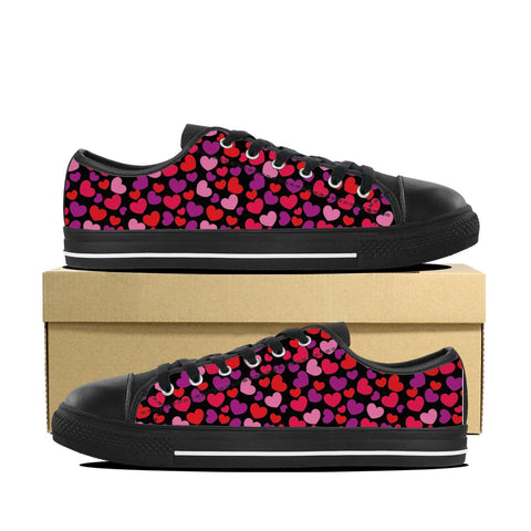 Women's Hearts Print Low Top Shoes