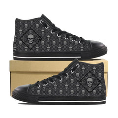 Men's Skull Print V3 High Top Shoes