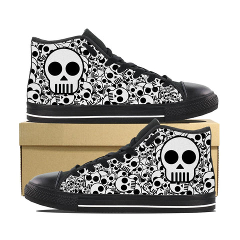 Women's Sweet Skull High Top Shoes