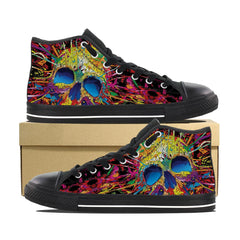 Men's Skull Paint High Top Shoes