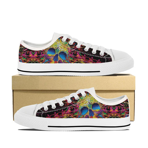 Men's Skull Paint Low Top Shoes