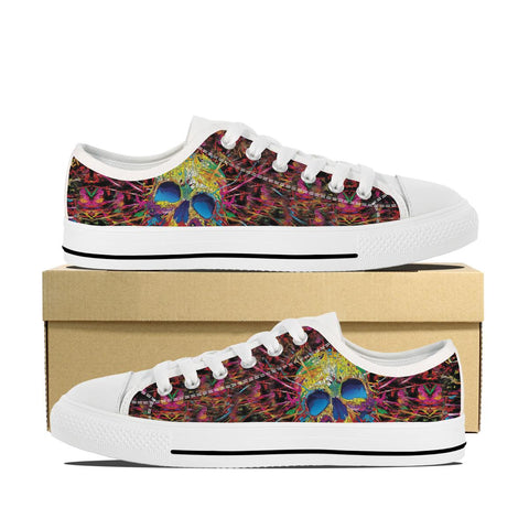 Women's Skull Painted Low Top Shoes