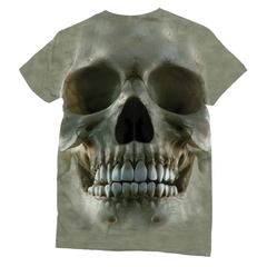 3D Skull T-Shirt Front and Back