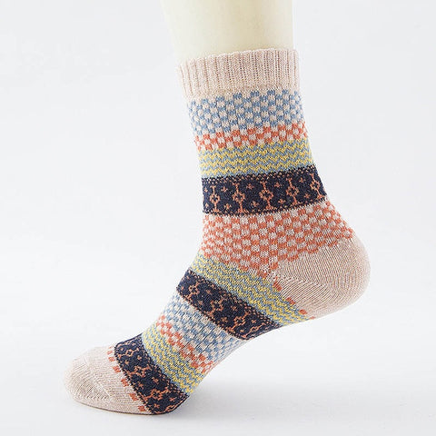 Winter Thick Warm Stripe Wool Socks Casual Socks