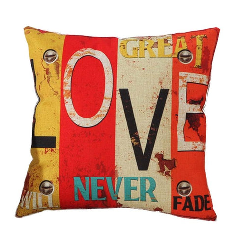 Mediterranean Style Letter Cushion Cover