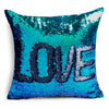 Image of LOVE: Two Tone Glitter Sequins Throw Pillow Case