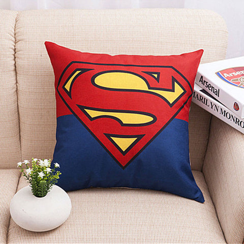Superhero Linen Cushion Cover for Throw Pillows
