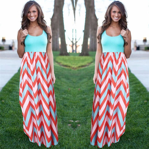 Women's Summer Beach Boho Maxi Dress