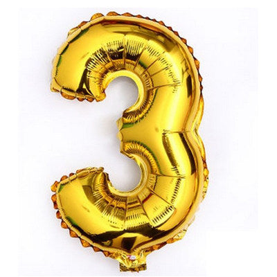 Pink, Gold and Silver Giant Number Foil Balloon