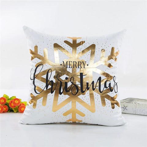 Bronzing Pattern Golden Throw Pillow Cover
