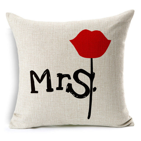 Mr & Mrs Always Right Throw Pillow Case