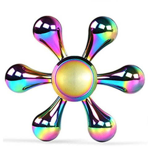 Rainbow Ferris Wheel Polar Lights Fidget Tri Hand Spinner Fidget Finger Spiner