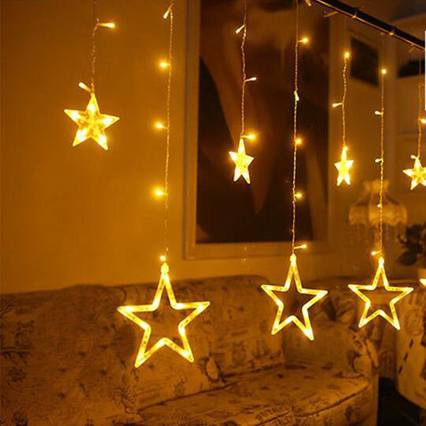 LED Fairy Star Curtain String Light