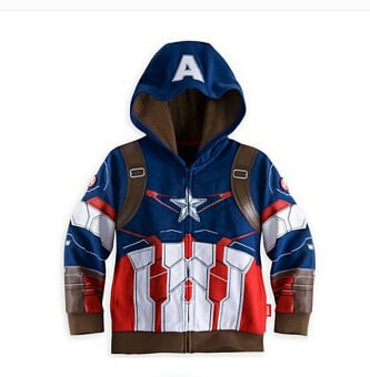 children's outerwear, boys girls clothing coat fashion jackets, avengers Hoodies/sweater