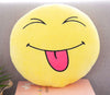 Image of Cute Emoji Soft Round Throw Pillow