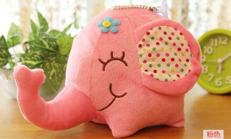 Kawaii Floral Elephant Stuffed Toy