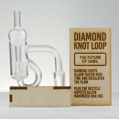 T2 #1 DIAMOND KNOB LOOP QUARTZ BANGER