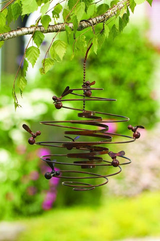Happy Gardens - Bees (Double) Spiral Garden Ornament