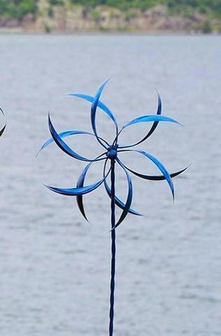 Happy Gardens - Blue Feather Wind Spinner