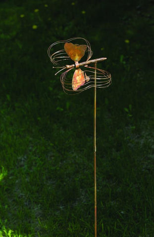Happy Gardens - Butterfly with Spinning Wings Garden Stake