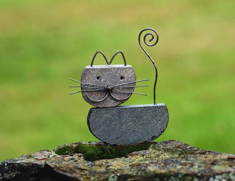 Happy Gardens - Cat River Stone Metal Garden Decor