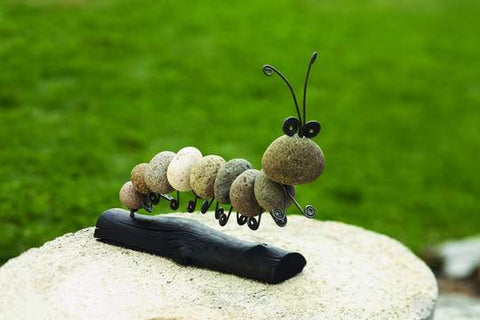 Happy Gardens - Caterpillar Garden Statue