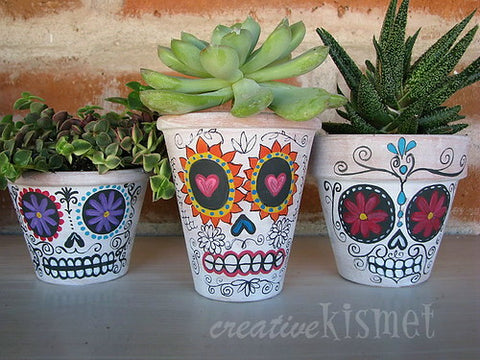 Happy Gardens - Day of the Dead Planters