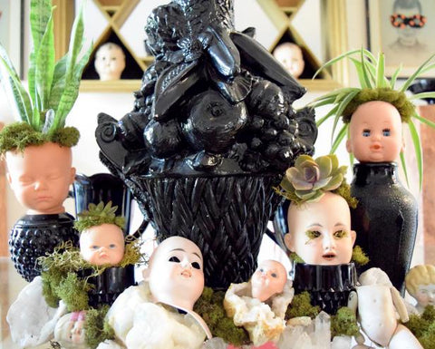 Happy Gardens - Doll Head Planters