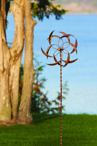 Happy Gardens - Feather Wind Spinner, 15""