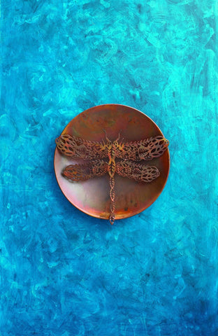 Happy Gardens - Filigree Dragonfly Wall Decor Disc