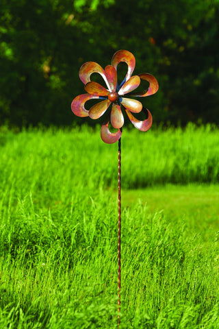 Happy Gardens - Floral Cutout Wind Spinner