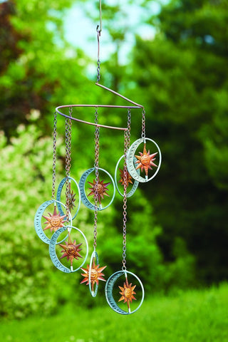 Happy Gardens - Hanging Sun and Moon Mobile