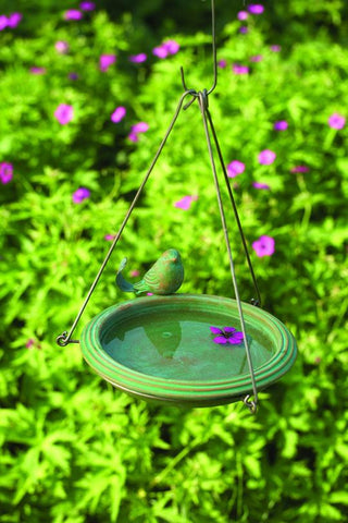 Happy Gardens - Hanging Teal Bird Bath