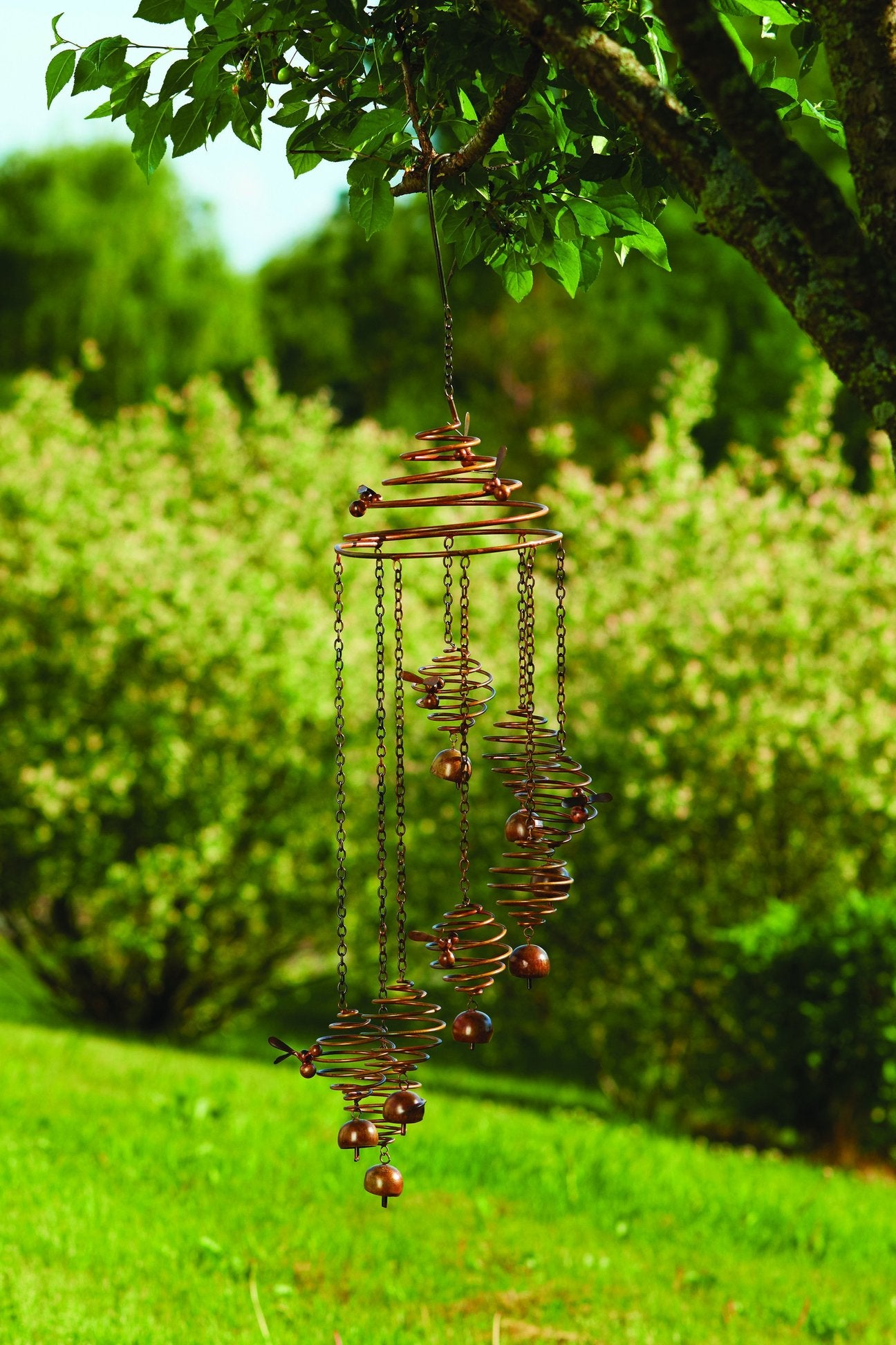 Happy Gardens - Bee Spiral with Bells Mobile Wind Chime