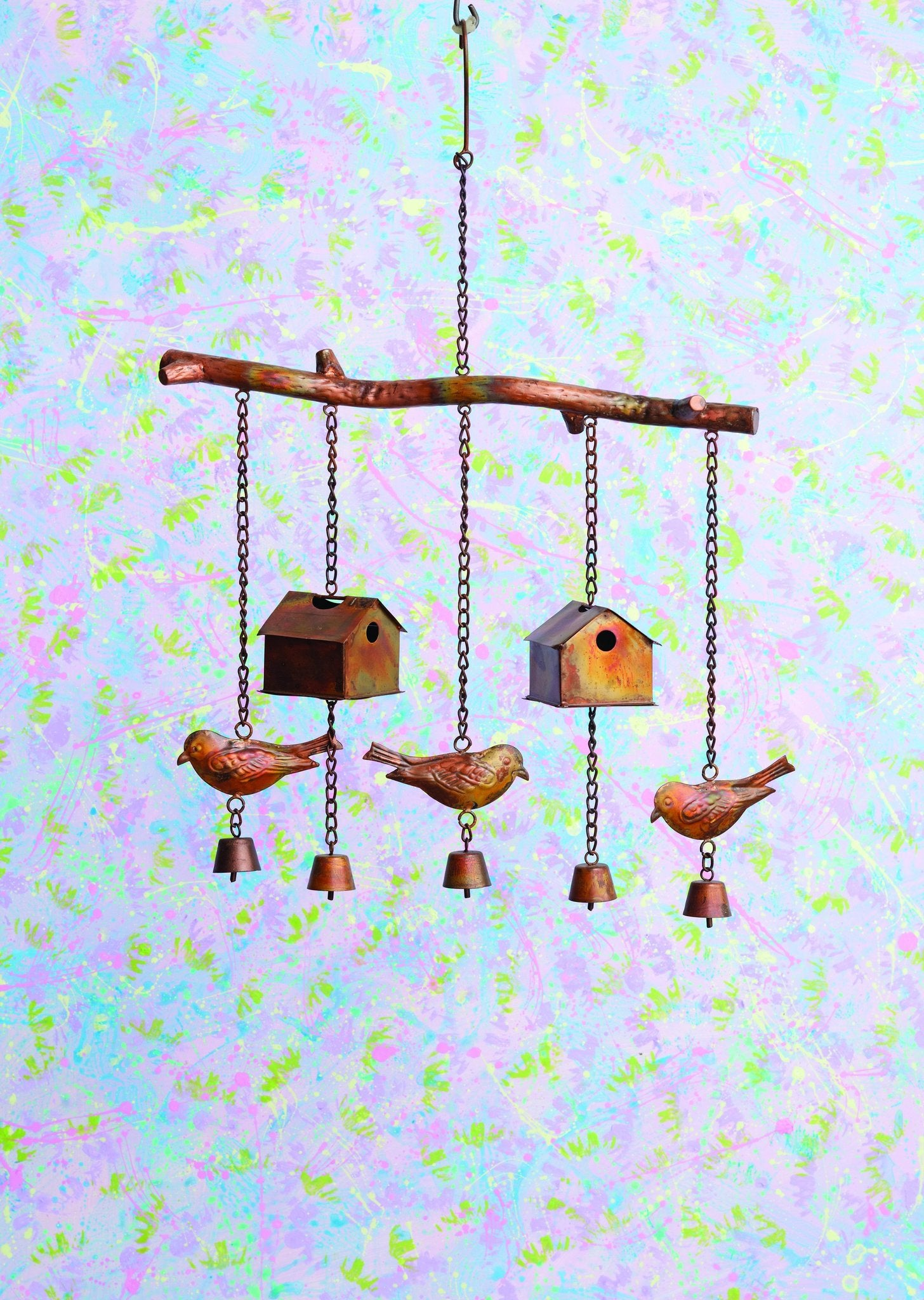 Happy Gardens - Bird House and Birds Wind Chime