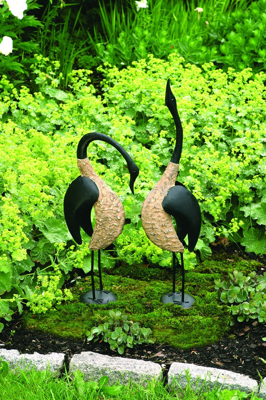 Happy Gardens -  Geese Pair; 1 Standing, 1 Bowing