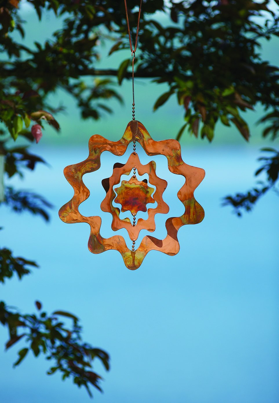 Happy Gardens - Hanging Sunburst Triple Spinner