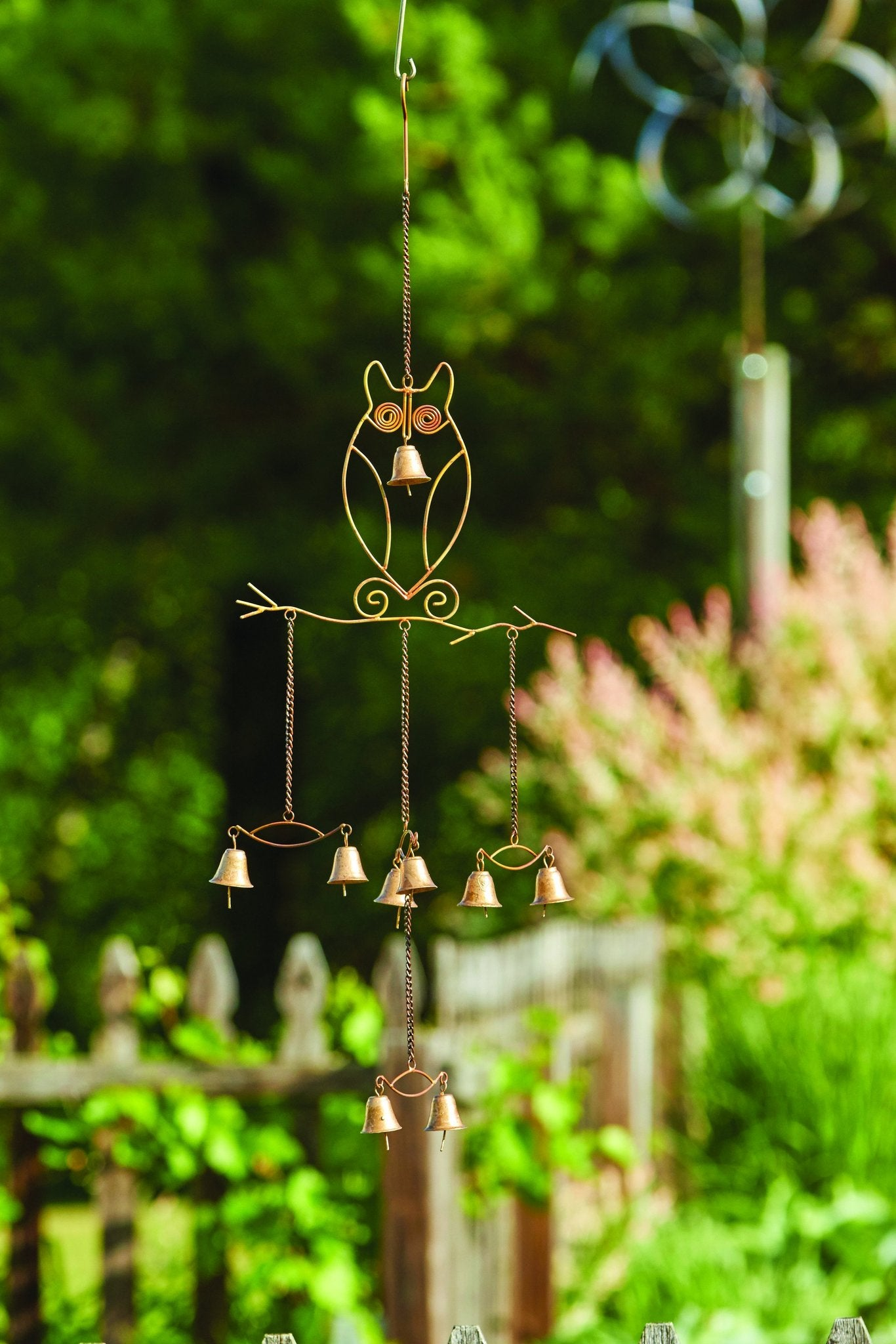 Happy Gardens - Owls with Bells Wind Chime
