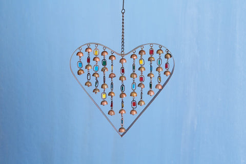 Happy Gardens - Heart With Dangles Ornament and Wind Chime
